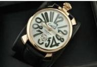 GaGa MILANO ガガミラノ MANUALE 48MM マニュアーレ メンズ 時計 ゴールド 男性用腕時計 自動巻き 5011.06S_品質保証
